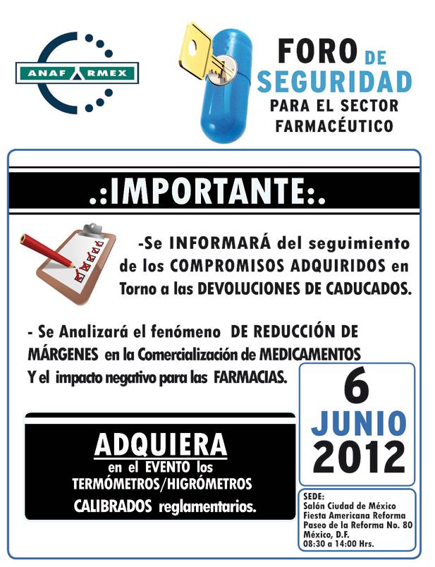 Invitación al Foro de Seguridad para el Sector Farmacéutico
