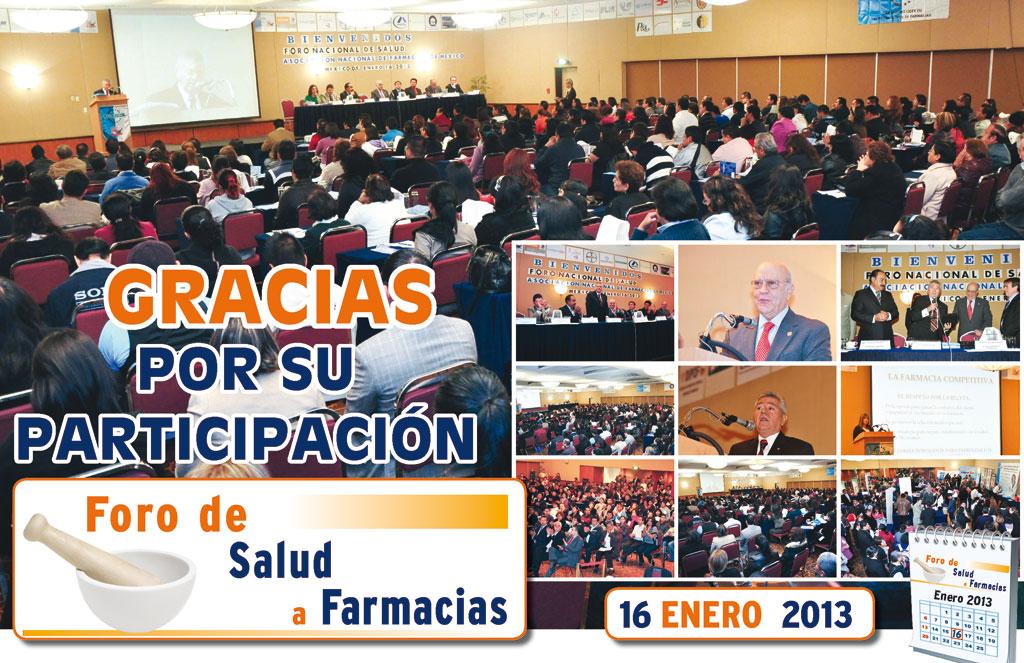 Agradecimiento Foro Salud Enero 2013