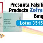 Presunta falsificación del producto Zofran Solución