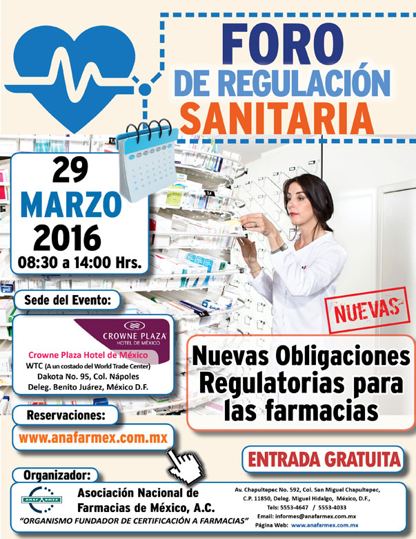 Invitación Foro de Regulación Sanitaria