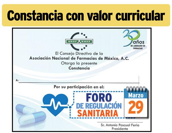 Invitación al Foro de Regulación Sanitaria